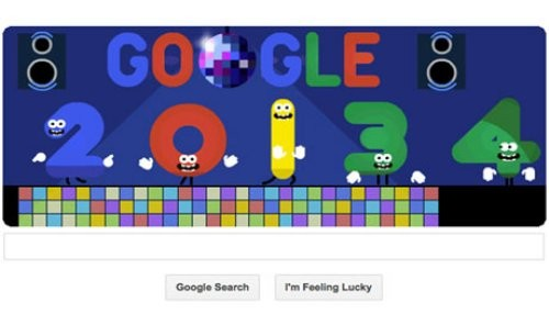 Google marca el fin de Año 2013 con un doodle