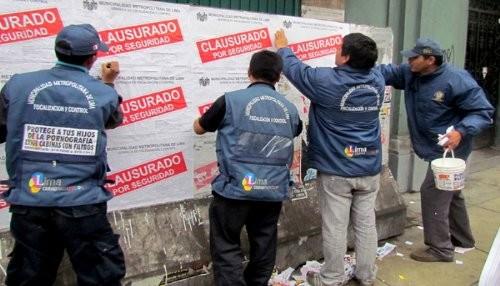 Municipalidad de Lima multó y clausuró 402 negocios inseguros e insalubres en el 2013