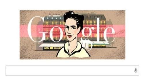 Google rinde homenaje a Simone de Beauvoir con un nuevo doodle