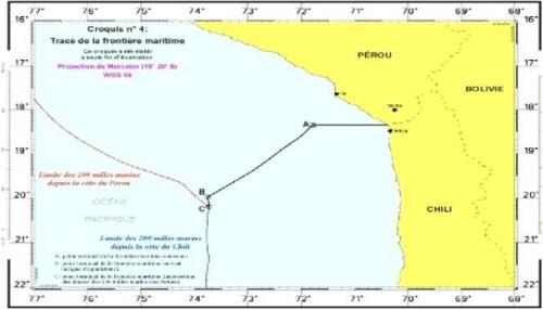 Fallo de la Haya delimita frontera marítima entre Perú y Chile por 80 millas desde el paralelo terrestre