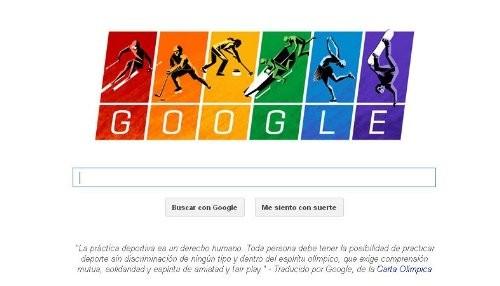 Google muestra la bandera gay en un doodle por los Juegos de Sochi