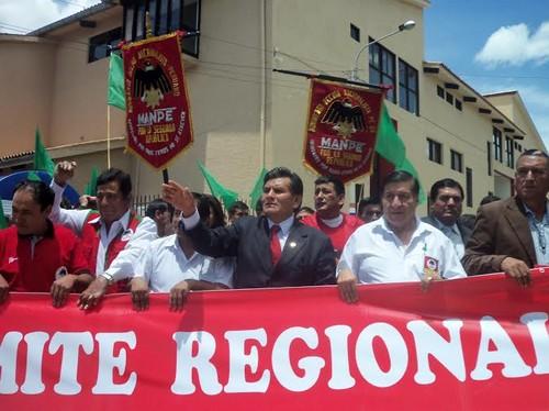 Lombardo Mautino recordó a fundador del MANPE y presentó candidatos a alcaldes distritales y provinciales en Región Ancash