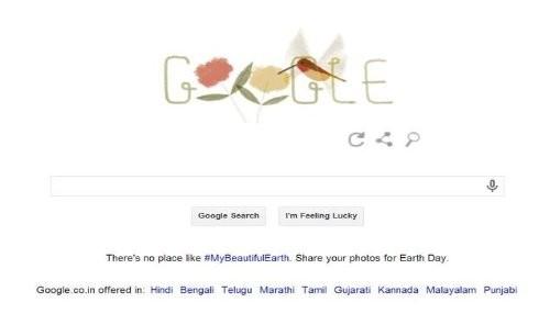 Google celebra el Día de la Tierra con un nuevo doodle