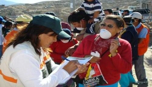 EsSalud Brinda Atención Médica a Pobladores Afectados por Cenizas y Gases Tóxicos del Volcán Ubinas