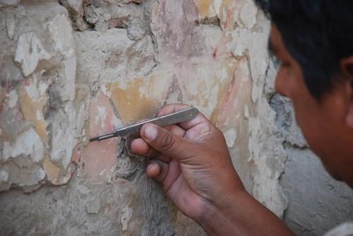 El Ministerio de Cultura informa del descubrimiento de una pintura mural en Tambo Colorado