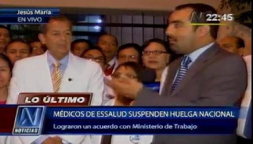 Médicos suspenden huelga nacional que duró más de 20 días