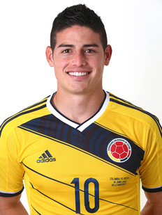 El colombiano James Gutiérrez: Mejor jugador del encuentro entre Colombia y Grecia