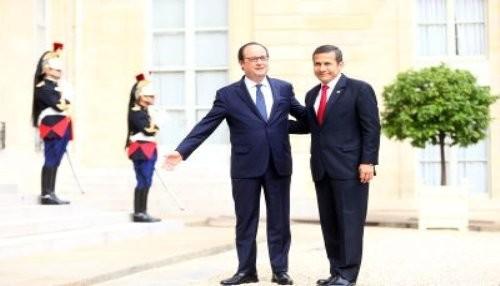 Presidente Humala se reunió con François Hollande en París