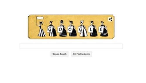 Google honra el nacimiento de Emmeline Pankhurst con un doodle