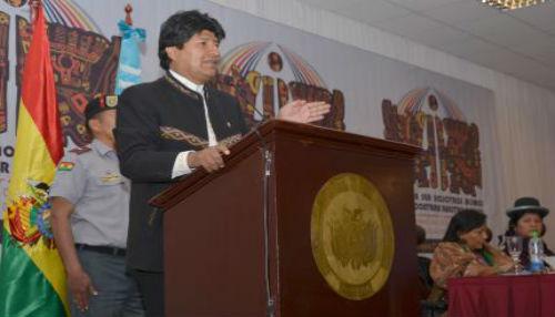 Evo Morales pide movilización en Bolivia contra agresión de Israel a Palestina