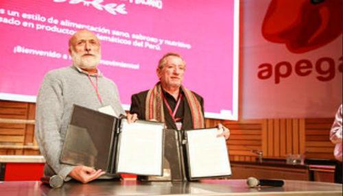 Apega y Slow Food firman convenio por una gastronomía sostenible
