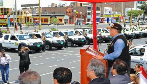 Ministro del Interior entregó 42 nuevos patrulleros en la región Áncash