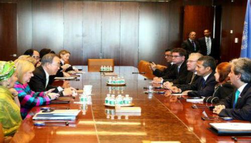 Presidente Ollanta Humala se reunió con el Secretario General de la ONU, Ban Ki Moon