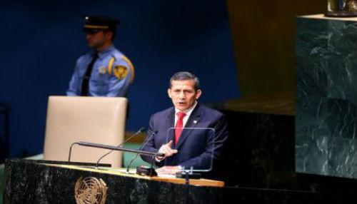 Ollanta Humala pide sesión especial en la ONU para abordar problema mundial de las drogas