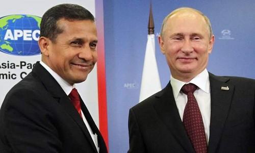 Ollanta Humala se reúne hoy viernes 7 de noviembre con Vladimir Putin en Moscú