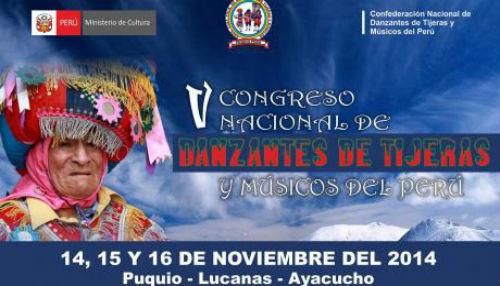 V Congreso Nacional de Danzantes de Tijeras y Músicos del Perú se realizará en Ayacucho