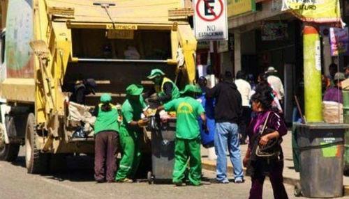 En 25 distritos, diariamente se recoge más de 100 toneladas de residuos sólidos