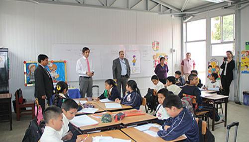MINEDU inicia montaje de 1500 aulas prefabricadas en colegios públicos con infraestructura dañada