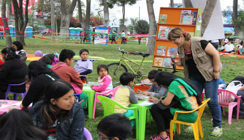Realizan IV Maratón de la Lectura en el Parque de la Exposición