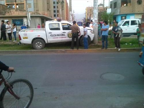 Un accidente de tránsito más en Lima: Un patrullero y un niño de ocho años