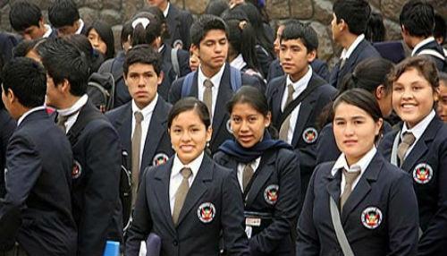 Mejores alumnos de segundo año de secundaria podrán postular a los COAR hasta el 14 de enero