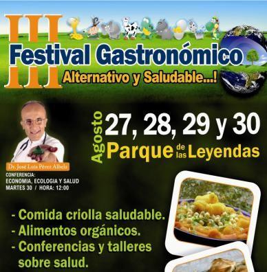 Iniciará el 27 de agosto el III Festival Gastronómico Alternativo Saludable