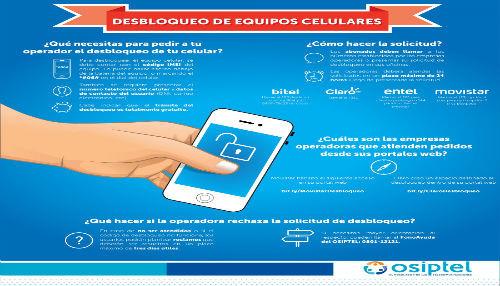 El desbloqueo de celulares aplica para usuarios de empresas peruanas en el territorio nacional e internacional