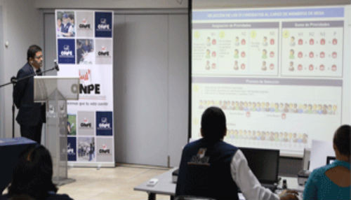 ONPE sorteará la próxima semana a miembros de mesa para elecciones de consejeros al CNM