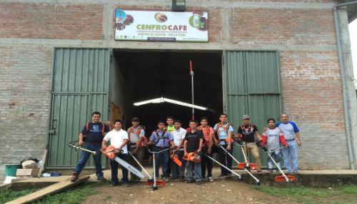 Productores de café en Cajamarca recibieron nueva maquinaria para sus labores agrícolas