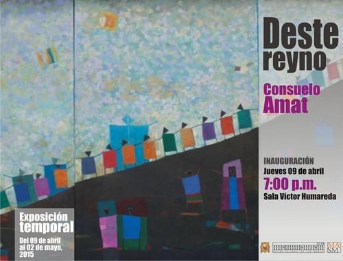 Reconocida artista plástica peruana Consuelo Amat y León inaugura su muestra DESTE REYNO este jueves 9 de abril
