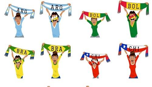 Facebook lanza stickers para la Copa América