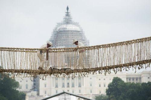 Festival Perú: Pachamama en Washington DC culminó con la construcción del puente Q´eswachaka