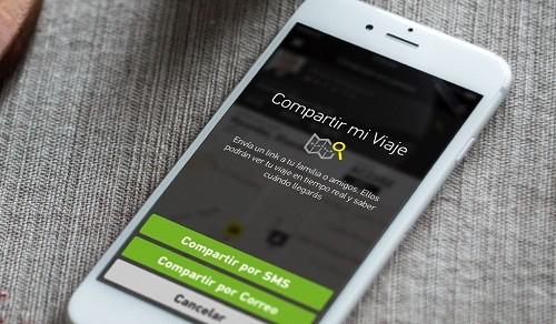 'Compartir mi viaje' es la nueva función de la aplicación Taxibeat