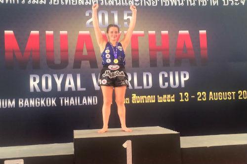María Paula Buzaglo se coronó Campeona en el Mundial de Muay Thai en Tailandia