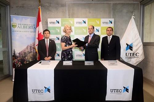UTEC firma convenio con la Universidad de Alberta, una de las top five de Canadá