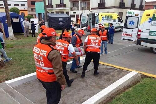 Región Callao realizó simulacro de sismo y tsunami