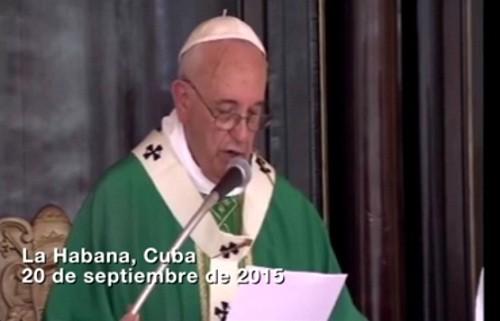 'No tenemos derecho a permitirnos otro fracaso má en este camino de paz y reconciliación', afirmó el Papa en Cuba al hablar de Colombia