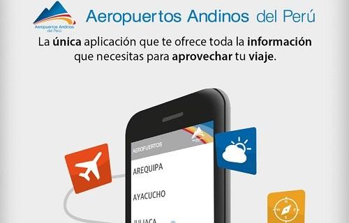 Aeropuertos Andinos del Perú lanza su propia app para dispositivos móviles