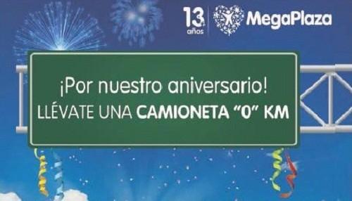 """MegaPlaza regala una camioneta """"0"""" kilómetros por su aniversario"""