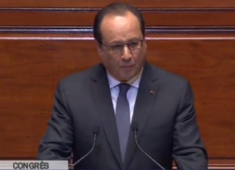 François Hollande ante pleno del Congreso de Versalles: Francia está en guerra