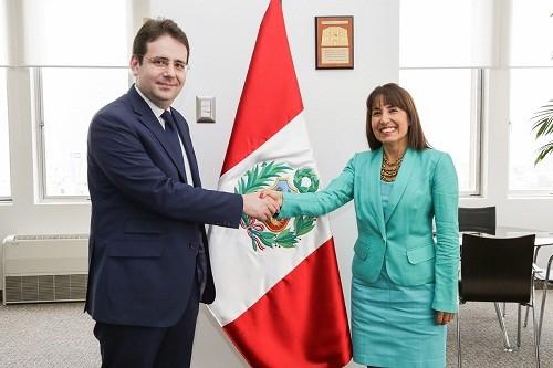 Ministra Magali Silva y su similar de Francia Matthias Felk abordaron temas de comercio y turismo