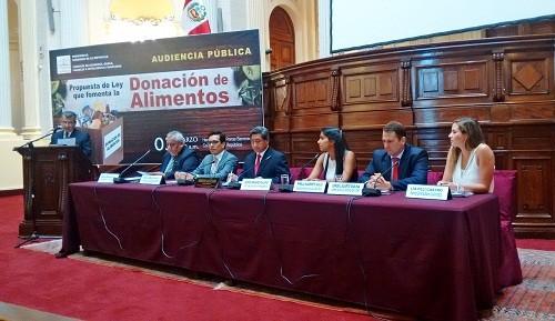 Entidades y empresas analizan proyecto de ley de donación de alimentos