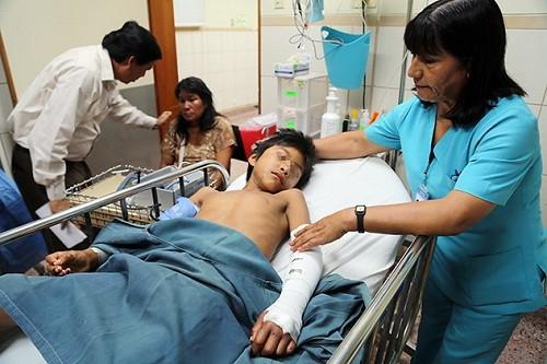 Niños fueron trasladados vía aérea gracias a intervención de ministerios de Salud y Defensa