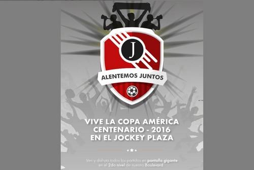 En el Jockey Plaza se vive la Copa América