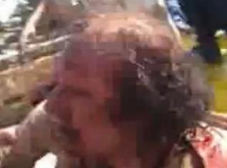 Mira los últimos minutos de Gadafi con vida