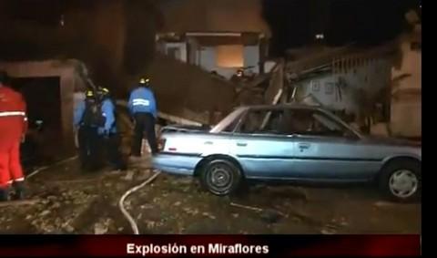 Fuga de gas  habría provocado explosión en Miraflores