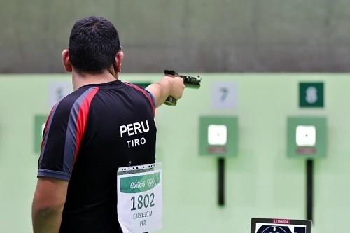 Marko Carrillo no clasificó a la final de 50 metros pístola en Río 2016