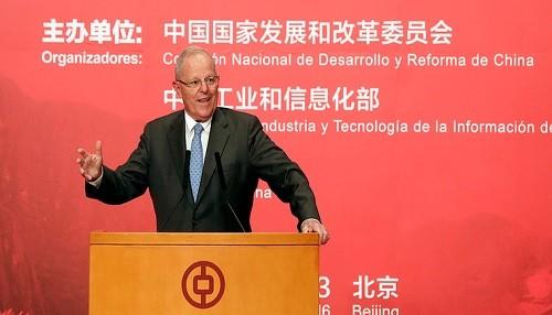 Jefe de Estado en China: Promovemos el Desarrollo Comercial y el Crecimiento Económico para el Perú
