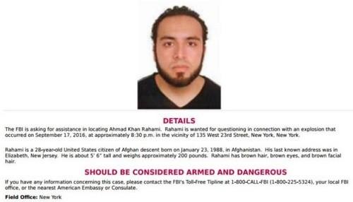 Nueva York: Se busca a Ahmad Khan Rahami por el atentado en Chelsea
