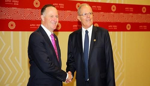 Presidente Kuczynski destacó ingreso de Perú a la OCDE, durante reunión bilateral con Primer Ministro de Nueva Zelanda